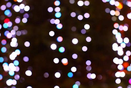 Festive lights bokeh • The camera lies - every shot