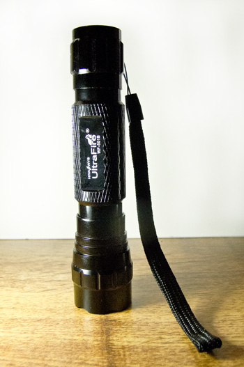 Powerful hand held flashlight