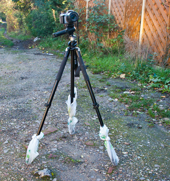 Tripod With Bags • Dirt and grit is a camera killer. Prevent it from getting into your kit
