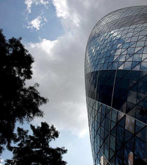 The Gherkin building - City of London, UK