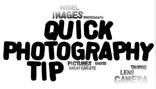 Quick Photography Tip