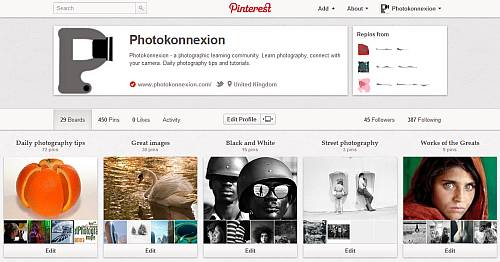 Photokonnexion Pinterest Account