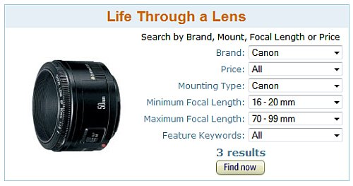 Buying lenses | Lens Finder