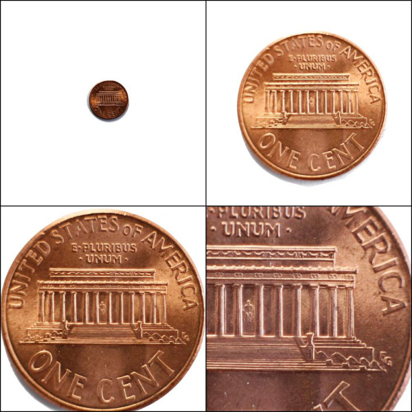 • Views of the back of a penny (Cent). • Click image to view large • Views of the back of a penny (Cent). • By ArchaeoFrog