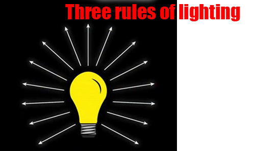 • Three Rules of Lighting •