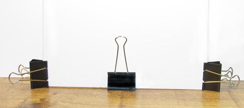 • Binder clip set up for reflectors •