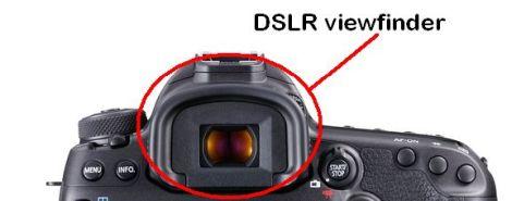 Image of a DSLR viewfinder