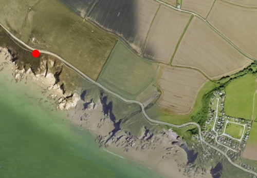 Google Earth - the satellite view provides a good idea of the type of coast.